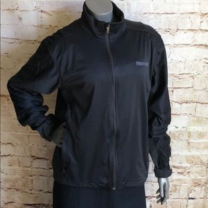 Marmot Windstopper Black Gray Men's Large Zip
